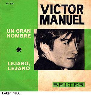 Portada del sencillo de Víctor Manuel 'Un gran hombre'.