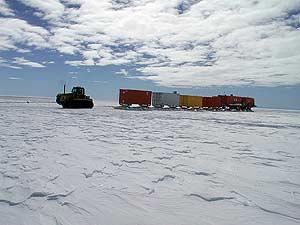 La estación científica Concordia, en la Antárttida. (Foto: AFP)