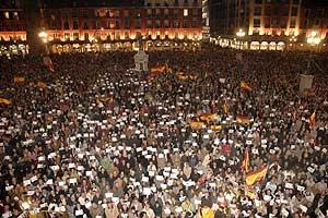 Vista de la manifestación de Valladolid. (Foto: EFE)