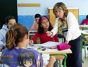 Un clase del instituto público de Astrabudua, en Erandio (Vizcaya). (Foto: Carlos García)