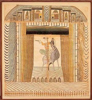 Uno de los cuadros de Ramírez. (Foto: American Folk Art Museum)