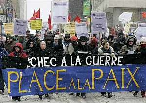 Manifestantes en Montreal. (Foto: AP)