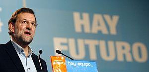 Rajoy, durante un acto en Madrid. (Foto: EFE)
