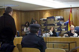 Otegi, el pasado miércoles, ante el tribunal de la Audiencia. (Foto: AP)