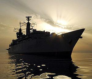 Imagen del 'HMS Cornwall' en aguas del golfo Pérsico. (Foto: Royal Navy)