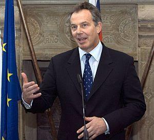 Tony Blair pronuncia un discurso en Osnabrueck, Alemania. (Foto: EFE)