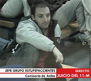 Emilio Suárez Trashorras durante la declaración policial. (Foto: LaOtra)