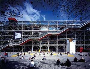 El Centro Pompidou de París, diseñado junto a Renzo Piano. (Foto: REUTERS)