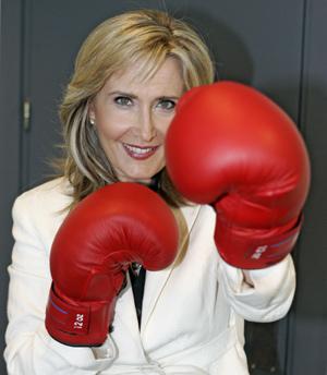Nieves Herrero, presentadora de Telemadrid. (Foto: Diego Sinova)