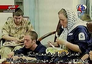 Imágenes de los soldados difundidas por la televisión iraní. (AP)