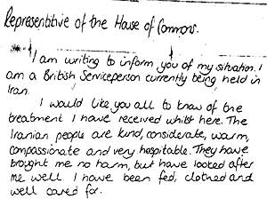 Segunda carta manuscrita de la soldado Turney. (AP)