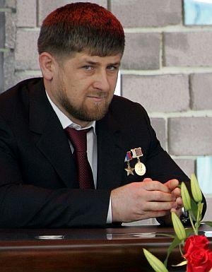 Ramzan Kadyrov, durante la toma de posesión. (Foto: AFP)