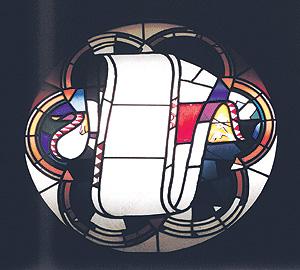 Rosetón de la cripta de la Sagrada Familia. (Museo Diocesano de Barcelona)