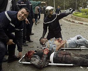 Dos heridos en el atentado contra el Palacio de Gobierno. (Foto: REUTERS)