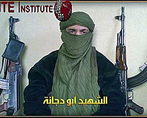 """El llamado """"mártir Abu Duyana"""" en uno de los vídeos de los terroristas. (Foto: AFP)"""