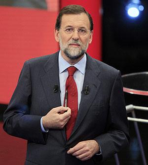 Mariano Rajoy, en un momento de la entrevista. (Foto: REUTERS)