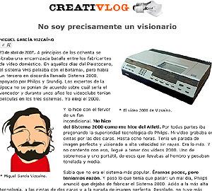 Miguel García Vizcaíno estrena el blog.