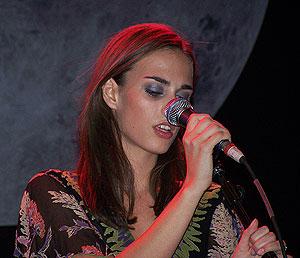 La cantante Sophie Auster. (Foto: Miguel A. Ortega).