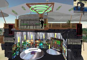 El plató de 'El intermedio' en Second Life. (Foto: laSexta)