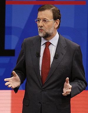 El líder del PP, en un momento del programa el pasado día 19. (Foto: EFE)
