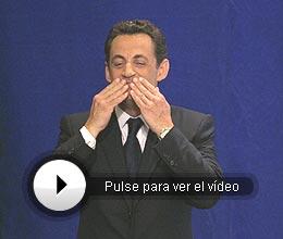 Sarkozy, agradecido. (Foto: AP)