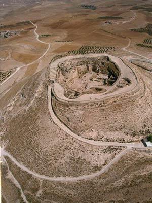 Muestra aérea del enclave arqueológico de Herodium. (Foto: EFE)