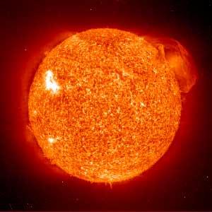 El Sol, visto por la sonda SOHO. (Foto: NASA)