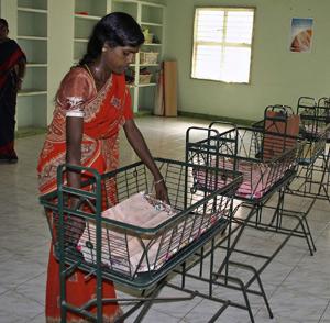 Cunas vacías en el orfanato Bebés de Cuna. (Foto: David Jiménez)