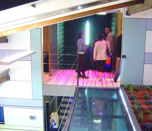 Detalle de la parte superior de la casa. (Foto: V. M.)