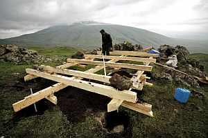 Inicio de los trabajos de construcción del Arca. (Foto: Greenpeace)