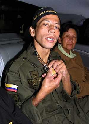 John Frank Pinchao Blanco, tras su liberación. (Foto: AFP)