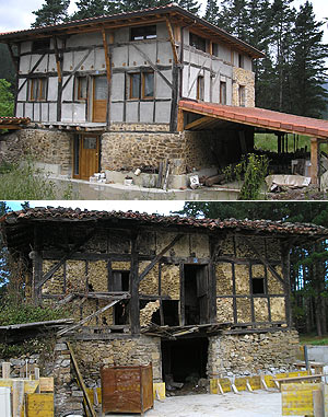 El antes y el después del caserío. (Foto: G. I.)