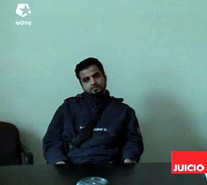 Attila Turk desde la prisión de Versalles donde le interrogan por vídeoconferencia. (Foto: La Otra)