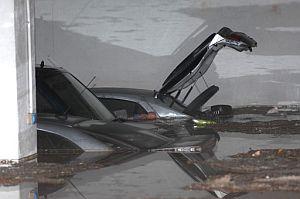 Un garaje de Villarrubia de los Ojos (Ciudad Real) totalmente inundado por la lluvia. (Foto: EFE)