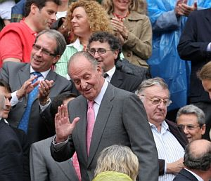 El Rey Juan Carlos, español de la historia, en Las Ventas. (Foto: AFP)