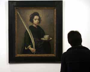 El cuadro 'Santa Rufina', de Velánquez, se expone estos días en Madrid. (Foto: REUTERS)