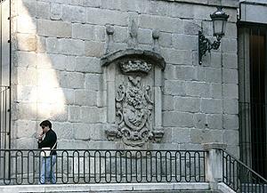Imagen del escudo más viejo. (Foto: Diego Sinova)
