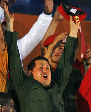 Chávez, en un acto público. (Foto: REUTERS)
