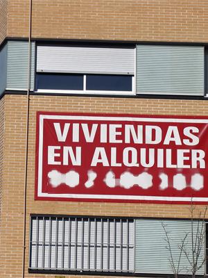 Edificios de viviendas en alquiler, en la zona del Palacio de Hielo de Madrid. (FOTO: Jaime Villanueva)