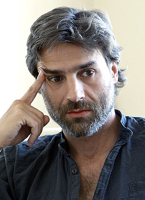 Alberto San Juan, durante la entrevista. (EFE)