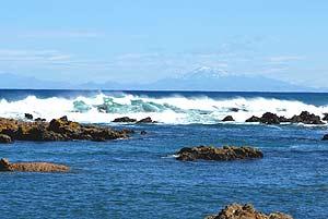 El Pacífico, la masa más grande de agua de la Tierra, desde las costas neocelandesas. (Foto: Alfredo Merino)