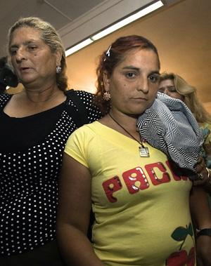 María Luisa C.J., esposa del principal acusado. (Foto: EFE)