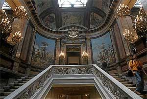 Imagen del interior del Palacio de Linares. (Carlos Miralles)