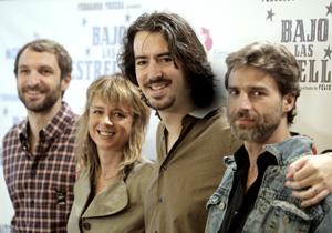 De izda . a dcha.: Julián Villagrán, Emma Suárez, Félix Viscarret y Alberto San Juan. (Foto: EFE)