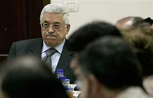 Abu Mazen, durante una reunión de la OLP en Ramala. (Foto: AP)