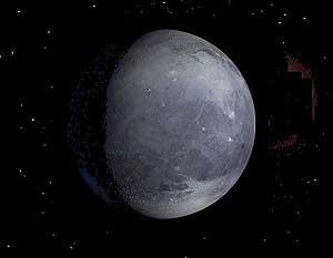 Interpretación artística de Plutón. (Foto. NASA)