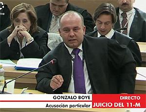 Gonzalo Boyé durante la lectura de conclusiones. (Foto: LaOtra)