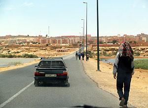 Vista de El Aaiún, capital del Sáhara Occidental. (Foto: Javier G. Lachica)