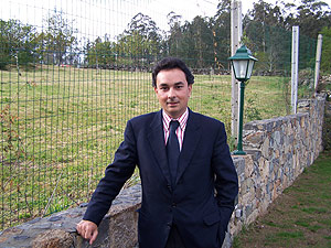 Juan Manuel Casares, apoderado de la empresa adjudicataria de los parquímetros. (Antonio Hernández)