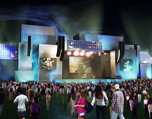 Recreación del Palco Mundo, gran escenario internacional de Rock in Rio. (Foto: Rock in Rio)